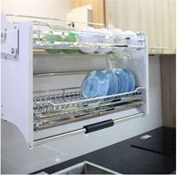 Giá bát nâng hạ inox UI.190 - phụ kiện tủ bếp EUROGOL