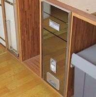Thùng gạo mặt gương B30-2 - Phụ kiện tủ bếp Eurogold