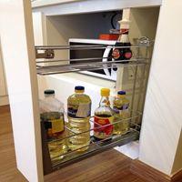 Kệ đựng gia vị inox nan tròn EG.150 - Phụ kiện tủ bếp EUROGOLD