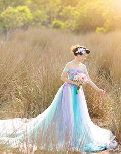 Váy pastel đa sắc