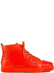 GIÀY CHRISTIAN LOUBOUTIN LOUIS SPIKES RED