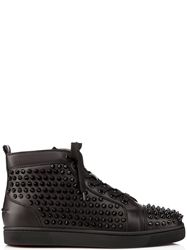 GIÀY CHRISTIAN LOUBOUTIN LOUIS SPIKES BLACK