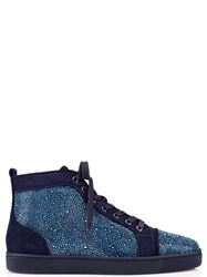 GIÀY CHRISTIAN LOUBOUTIN LOUIS STRASS BLUE