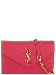 TÚI SAINT LAURENT MONOGRAM QUITED LEATHER PINK