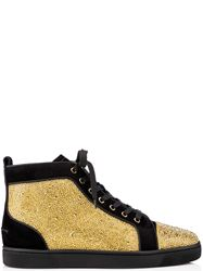 GIÀY CHRISTIAN LOUBOUTIN LOUIS STRASS GOLD