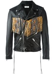 ÁO KHOÁC SAINT LAURENT FRINGED BIKER JACKET
