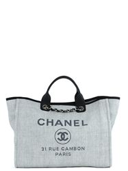 TÚI CHANEL SHOPPING GREY CANVAS