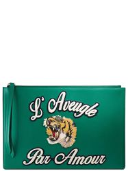 TÚI CLUTCH GUCCI TIGER EMBROIDERED