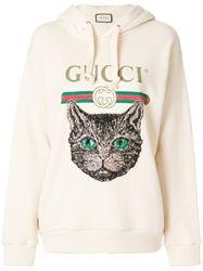 ÁO NỈ GUCCI MYSTIC CAT LOGO HOODIE
