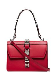 TÚI PRADA RED STUDDED LEATHER