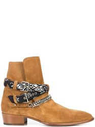 GIÀY AMIRI BANDANA BUCKLE BOOT BROWN