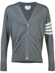ÁO CARDIGAN THOM BROWNE 4-BAR STRIPE GREY