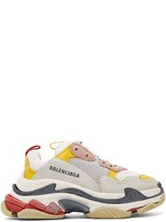 GIÀY BALENCIAGA YELLOW & GREY TRIPLE S SNEAKERS