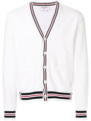 ÁO THOM BROWNE CRICKET STRIPE CARDIGAN