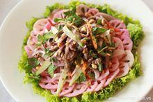 Salad củ sen thịt bò