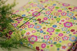 Vải kate hoa nhiều màu