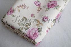 Vải bố họa tiết hoa hồng
