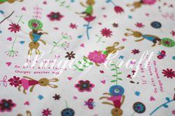Vải linen hình thỏ