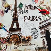 Vải bố nhung hình tháp và chim