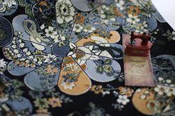 Vải cotton linen hoạ tiết Nhật