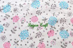 Linen hoa Bồ Công Anh xanh hồng
