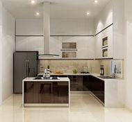 Tủ bếp Acrylic nhà anh Nhân