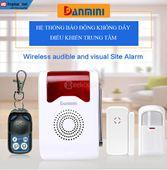 Hệ thống báo động không dây GSM Danmini Y302A với 1 bộ điều khiển, 2 cảm biến hồng ngoại và 2 cảm biến cửa