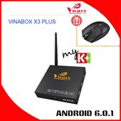 VINABOX X3 PLUS - Chạy Android Goolge TV 6.0.1 Ram 2G