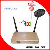 Android Box VINABOX Q9 - Vàng, Lõi Tứ, Ram 1G, 2 Anten WiFI - Tặng Chuột 200K