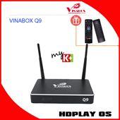 Android Box VINABOX Q9 - Giá Cực Tốt, Cấu Hình Mạnh, 2 Anten WiFi (Đen)