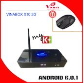 VINABOX X10 Ver 2G - Amlogic S912, CPU 8 Nhân, Ram 2G, Rom 16G 4K HDR10