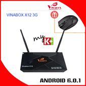 Android Box Ram 3G - VINABOX X12 3G - Rom 16G, Mạnh Mẽ Chip S912 - 8 Nhân.