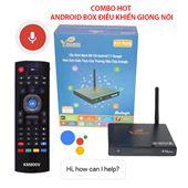 [COMBO HOT] VINABOX X10 Plus + KM800V - Điều Khiển Giọng Nói, Google Assistant