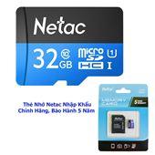 THẺ NHỚ NETAC 32GB CHUẨN CLASS 10, UHS-I, TỐC ĐỘ 90MB/S CHÍNH HÃNG