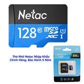 THẺ NHỚ NETAC 128GB TỐC ĐỘ 90MB/S , CHUẨN CLASS 10 BẢO HÀNH CHÍNH HÃNG 5 NĂM