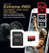 Thẻ nhớ Sandisk Micro SDXC 64GB 100/90MB/s Extreme Pro