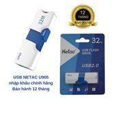 USB NETAC U905 32GB, CHUẨN 2.0 MỚI NHẤT, PHÂN PHỐI CHÍNH HÃNG