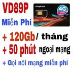 Sim Vina Phone gói cước VD89P