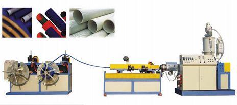 Dây chuyền sản xuất ống gân thành ông đơn PVC, PE
