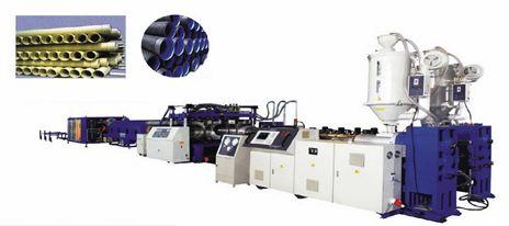 Dây chuyền sản xuất ống gân thành ống đôi đường kính trung bình