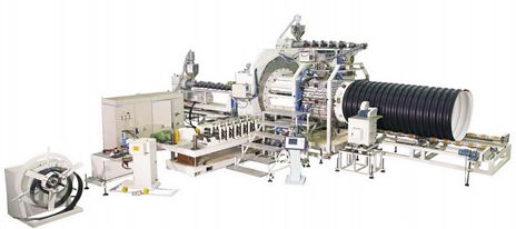 Dây chuyền sản xuất ống nhựa gân xoắn lõi thép