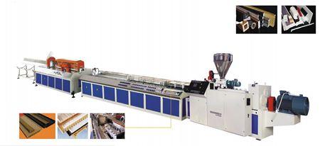 Dây chuyền sản xuất khung cửa nhựa, tấm trần và thanh profile