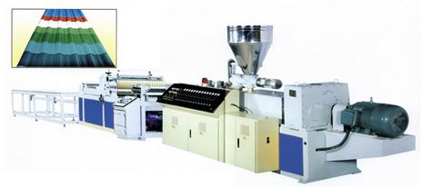 Dây chuyền sản xuất tấm lợp sóng nhựa PC,PVC,PP,PE