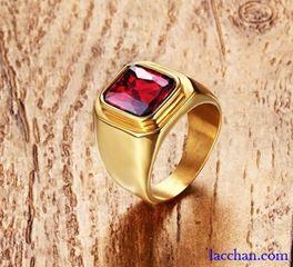 Nhẫn nam đá đỏ