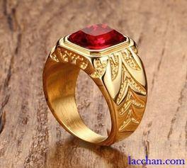 Nhẫn đá đỏ
