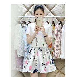 Set Áo Chân Váy In Hoa Thời Trang - TP426