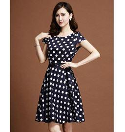 Đầm Xòe Chấm Bi Thời Trang Có Size - TP318