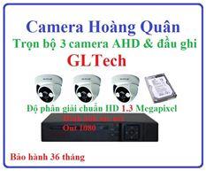 Lắp đặt camera GLTech trọn bộ 3 camera và đầu ghi