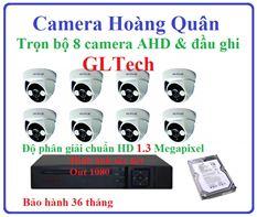Lắp đặt camera GLTech trọn bộ 8 camera và đầu ghi