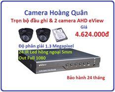 Trọn bộ đầu ghi Đầu ghi AHD EView, 2 Camera 1.3 Mp